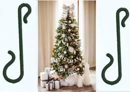 Wholesale Cotton Hangers - Hot sale Santa Claus Christmas Tree Hook Hanger 4cm Decorations Ornaments Xmas Craft Supply Party Favor Navidad Q102