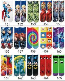 Wholesale Christmas Socks For Men - 3D Printed Socks 165 styles Unisex Cute Socks Cartoons Halloween Christmas Socks for Kids Men Women's Casual Charactor Socks Free Shipping