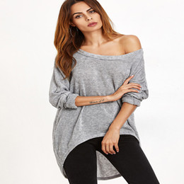 Wholesale Dolman Sweaters - Autumn Women Irregular Loose Knitting Sweater Europe Style Christmas Casual Loose Pullover Top Hi-Low Batwing Long Sleeve
