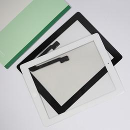 Venta al por mayor-100% probado bien Para ipad3 iPad 3 ipad 4 iPad 4 pantalla táctil digitalizador + botón de inicio + botón flex + etiqueta + soporte de cámara completo desde fabricantes