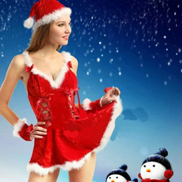 Wholesale Clothed Ship Porn - Cosplay Christmas Lady uniforms Sexy Erotic suits Night club erotic Suit Porn Sex Clothes sets free shipping wholesale