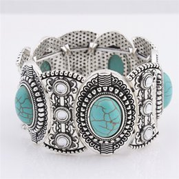 Wholesale China Channels - wholesale free shipping Turquoise bracelets fashion jewelry green turquoise bangle retro bracelet silver plated with crystal TB0001