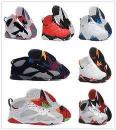 Wholesale Free Delivery Shoes - Free Delivery Hot 2018 shoes 7 Basketball Shoes Men Sneakers Shoes 7s VII Authentic Replica Zapatos Mujer size 8-13