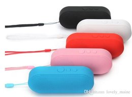 Wholesale Mini Portable Capsule - Wireless Bluetooth speaker mini-pills capsule subwoofer outdoor portable with lanyard car speakers support TF card