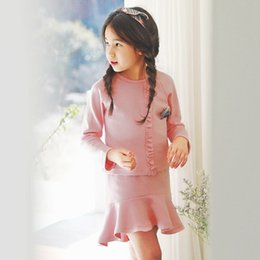 Wholesale Two Years Kids Girl Dress - Lolita Style Princess Skirt Suit, Suit for Girls, 17 Years of The New Spring and Summer, The Pink Skirt Two Sets, Kids Sports Dress