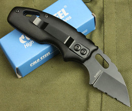 Wholesale Utility Knife Keychain - New Small Size Cold Steel 710MT Folder Fine Serrated EDge EDC Keychain Folding Pocket Gift Tactical Utility Knives 2 Styles B302Q