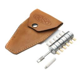 Wholesale Locksmith Tools Automotive - GOSO Jaguar 6 Cylinder Reader Ford Tibble Lock Pick Tools Ford Mondeo Lock Pick Lockpick Tubular Pick Tools Automotive Locksmith Tools