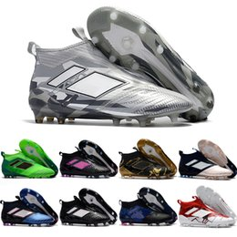 Wholesale Cheap Boots Free Shipping - 2017 Cheap Wholesale ACE 17+ PureControl FG 2018 NEW Men's Soccer Shoe boots Performance Mens soccer cleats football shoes Free Shipping