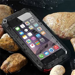 Wholesale Protection Shock - Luxury Dirt Shock Waterproof Shockproof Aluminum Gorilla Metal Protection Cover Case for iPhone 6 6s 6S 7 Plus Armor Skin