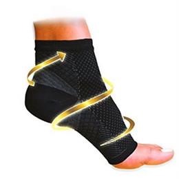 Wholesale Knee Sleeve Sock - Wholesale-1 Piece Foot angel anti fatigue compression foot sleeve FM0514