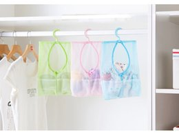 Wholesale String Shelf - Kitchen Bathroom Clothesline Creative Underwear Socks Laundry String Storage Bag Hook Mesh Bag Home Daily Doll Pillow Shelf 2017