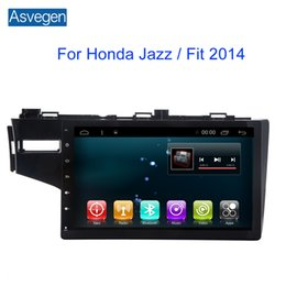 Wholesale Honda Jazz Gps - Car Navigation Device Asvegen For Honda Jazz   Fit 2014 With GPS Touch Screen Support Car Audio Radio Video MP3 MP4 Player Bluetooth
