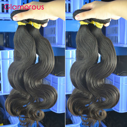 Wholesale 32 Hair Shedding - Glamorous 100% Virgin Human Hair Brazilian Hair Body Wave 6 Bundles Natural Color No Tangle No Shed Peruvian Indian Malaysian Hair Weaves