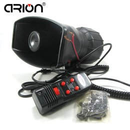 2019 alto falante DC12V 5 Tone Car eletrônico sirene de Alerta de Alarme Da Polícia Bombeiros Altifalante do carro Ambulância com MICROFONE