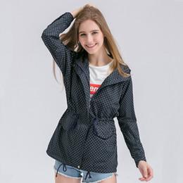 Wholesale Plus Size Polka Dot Coat - Wholesale- 2017 Trench Coat For Women Spring Autumn Cute Polka Dots Hooded Trench Abrigos Chaquetas Fashion Plus Size XXXL Coat