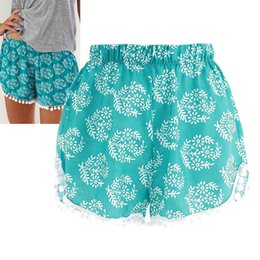 Wholesale Wholesale Beach Pants For Women - Wholesale-2016 Summer Women Fashion Floral Elastic Waist Cotton Shorts For Female Short Pants Woman Casual Plus Size Beach Casual Shorts