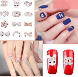 Wholesale Pearl Nail Stickers - F313-1 Nail Art Rhinestones Decorations Alloy Pearl Crystal Accessories Sticker Decals For Nails Makeup