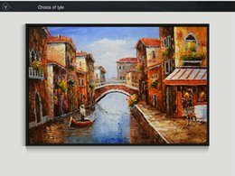 Wholesale Italy Canvas - Oil Painting Hand painted Italy Venice Landscape Modern Wall Art Picture for Living room Canvas Paintings Abstract