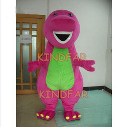 Wholesale Barney Dinosaur Dress - Wholesale-Barney Dinosaur Mascot Costumes Adult Fancy Dress Cartoon Party carnival Outfits Suit Free Shipping