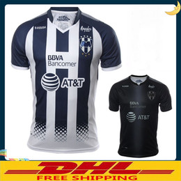 Wholesale Thai Wholesale Jersey - DHL Free shipping Thai 17 18 Monterrey soccer jerseys D.PABON R.FUNES MORI football shirt 2017 2018 Monterey jersey Size can be mixed batch