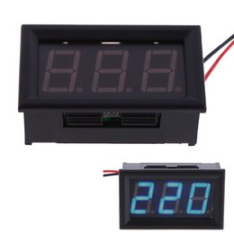 Wholesale Voltmeter Wires - New AC 30-500V Digital Voltmeter Voltage Panel Meter LED AC 30-500V Digital Voltmeter Voltage Display w  2 Wires