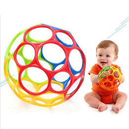 Wholesale Ball Load - Rubber Magic Hole Ball Baby Play Bite Grind Teeth Ball Infant Teethers Soothers kids Puzzle Toys OOA3120