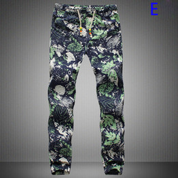 Wholesale Designed Harem Pants - Wholesale-Men Linen Pants New Design New Those Days Pants Men Casual Decorated Harem Mens Joggers Long Style Floral Print Pants 19