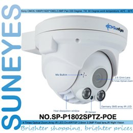 Wholesale Dome Sd Camera - SunEyes SP-P1802SPTZ-POE ONVIF Full HD 1080P 2MP PTZ Dome IP Camera POE with Pan Tilt and 2.8-12mm Optical Zoom Micro SD Slot
