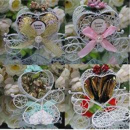 Wholesale Wholesale Chocolates Wedding Favors - Wedding Favors Chocolate Box Princess Carriage Baby Shower Sweet Boxes Candy Box Wedding Favors Gift Box 300pcs lot