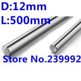 Wholesale 12mm Linear Rail Shaft - Wholesale- WCS 12mm 500mm 12mm x 500mm length linear shaft chrome rod linear rails 12mm linear motion guide rail 500mm CNC parts