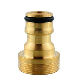 Wholesale Hose Pipe Fitting - New Hot Useful Solid Brass Threaded Hose Water Pipe Connector Tube Snap Adaptor Fitting Garden Outdoor
