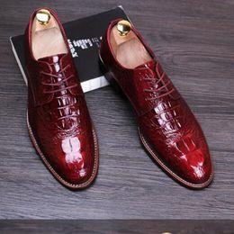 Wholesale Dressing E - Vogue of new fund of 2016 true leather shoes, leisure business men's shoes, wedding shoes men flat shoes 4 color