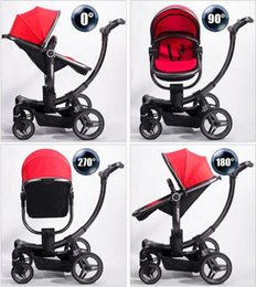 Kinderwagen online-FashionSafe V-Baby Luxuriöse High View Mutifunktionale Reise System Kinderwagen Kinderwagen Buggies Tragbare Falten Vier Räder Neugeborenen Kinderwagen