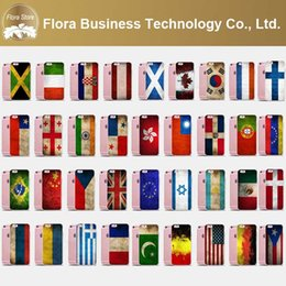Wholesale Country Flags Iphone Cases - Olympic USA UK Country National Flag Phone Case for Apple 6 6s 6plus 6splus Free DHL Shipping