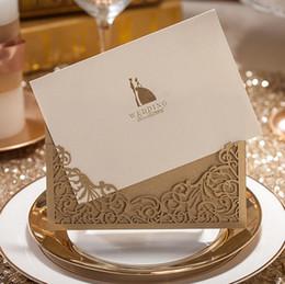 2019 enveloppes d'amour Cartes d'Invitations de mariage avec enveloppe