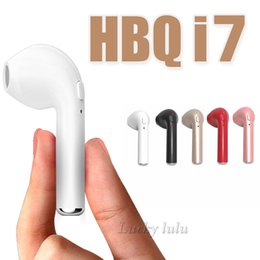 Wholesale Android Office - HBQ I7 Wireless Bluetooth Mini headphones V4.1 portable Mini headset Business office 3.5mm earphones Universal bluetooth for iphone Android