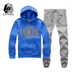 Wholesale High Quality Sweat Suits - High Quality Spring Hooded Fashion men's casual hoddies 6 colors sports male Jogging LastKings sweat suit
