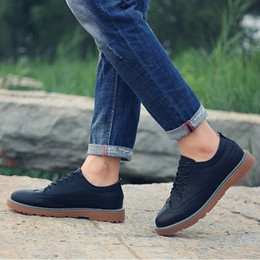 Wholesale Male Soles - Men's Casual Shoes British Style High Quality Fabric Rubber Sole Bullock Shoes Breathable Business Male Shoes
