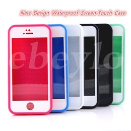 Wholesale New Waterproof Shockproof Case Iphone - Waterproof Case 2016 New Design Screen-touch Case For S7 iPhone 6 6s 6 plus 6s plus Shockproof Snowproof Dirtproof Impact Resistant Case