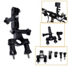 Wholesale Handlebar Seatpost Mount - Delicate camera Bicycle holder Mounting bracket for bicycle Motorcycle Bike Handlebar Seatpost Pole Mount + 3 Ways Pivot Arm camera Accessor