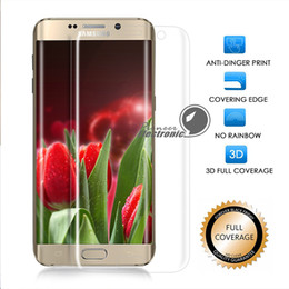 Wholesale Toughened Glass Wholesale - 0.2mm Full Transparent Clear, S8 S8 Plus S7 Edge Real Toughened Tempered Glass Premium Screen Protector 9H Hardness 3D Curved Full Cover