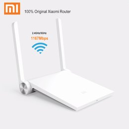Wholesale Ac Repeater - Original Xiaomi Router Mi WiFi Router Dual Band 2.4GHz   5GHz 1167Mbps AC Intelligent Wireless Repeater for iPhone IOS   Android