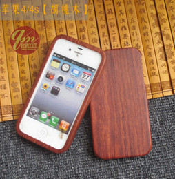 Wholesale Wood Iphone 4s Cases - Original Handmade Wooden Case For Apple Iphone 4 4s Real Bamboo Phone Housing Wood Cover For Iphone 5 5C 5s Hard Back Shell
