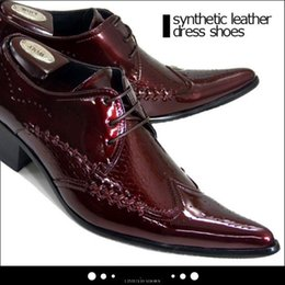 Wholesale Italian Business Shoes For Men - Newest Luxury Fashion Crocodile Leather Italian Stylish Lace Up Oxford Shoes for Men Business Style Dress Shoes Black White Red