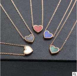 Wholesale Double Sided Sweater - 14K love heart collarbone chain double side sweater chain do not fade 4 styles you can choose shipping free