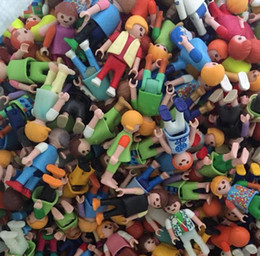 Wholesale Germany Wholesale - 10Pcs Playmobil Germany Action Figures Western Farm Fun Park Playmob Game Child Toy Models Collections Kid