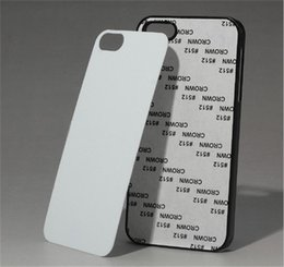 Wholesale Sublimation Plating Case Iphone - For Iphone 6s 6s Plus 4 5 6  6S DIY Sublimation Heat Press PC Cover Case With Aluminium Plates DHL Free SCA086