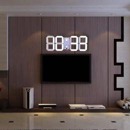 Grande orologio digitale del calendario principale online-Telecomando multifunzione Big LED Digital Orologio da parete Luminosità regolabile Cronometro Allarme Termometro Conto alla rovescia Calendario Nuovo + B