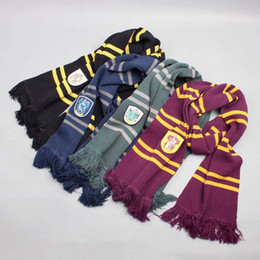 Wholesale Big Novelty Ring - Harry Potter Scarves Gryffindor Ravenclaw Hufflepuff Slytherin College Badge Big Scarf COS Performance Thicken Wraps In Halloween Holiday
