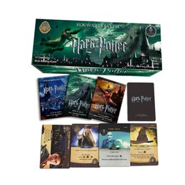 Wholesale Harry Potter Action Figures Wholesale - Harry Potter Trading Card Game English Edition Playing Game Collection Card Toys Voldemort Hermione Action Figures 17pcs set OTH564